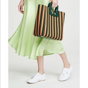 NWT STAUD Shirley bag in terry stripe